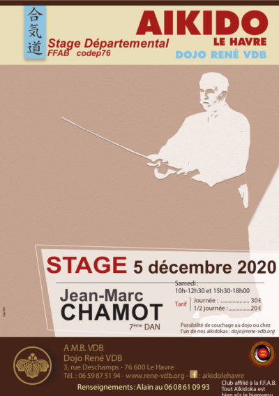 Affiche de l'événement stage annulé 160 jean marc chamot au havre